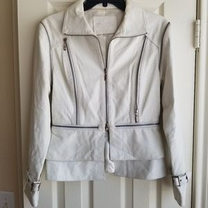 Mertillo Leather Jacket zip off sleeves size small
